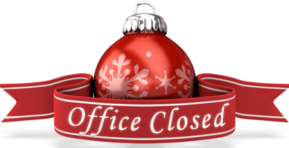 Office Closed Christmas