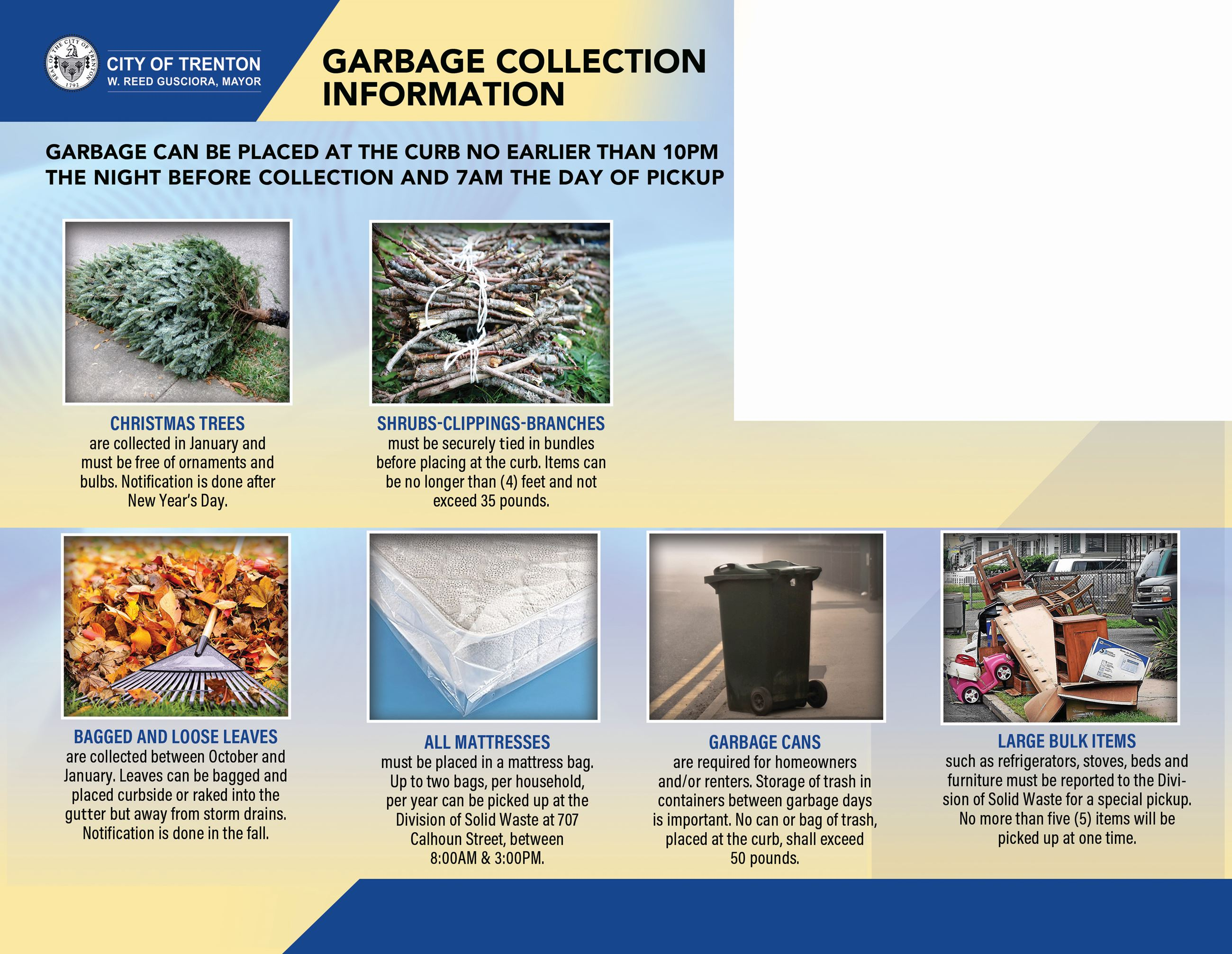 Trash Collection Mailer - Back